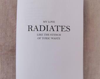 MY LOVE RADIATES zine