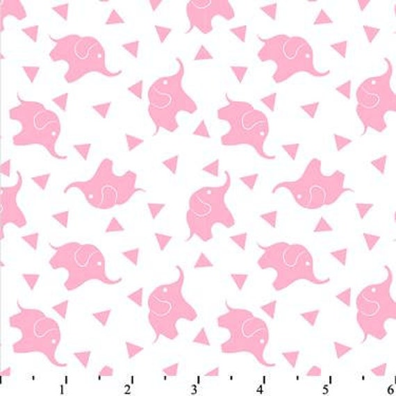 Pink Elephant Super Snuggle Flannel - Elephant Flannel Fabric