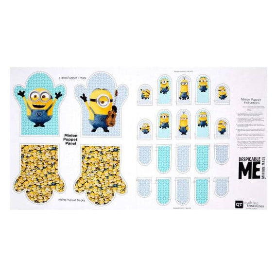 Minions Hand and Finger Puppets - DIY Finger Puppet Panel - Gru and Minnions