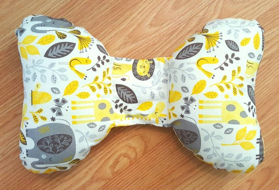 Safari Infant Head Support - Torticollis - Positional Plagiocephaly - Elephant Ear Pillow - Car Seat Head Support - Unique Baby Shower Gift