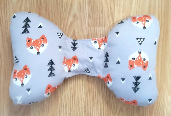 Fox Head Infant Head Support - Torticollis - Positional Plagiocephaly - Elephant Ear Pillow - Car Seat Head Support - Woodland Baby