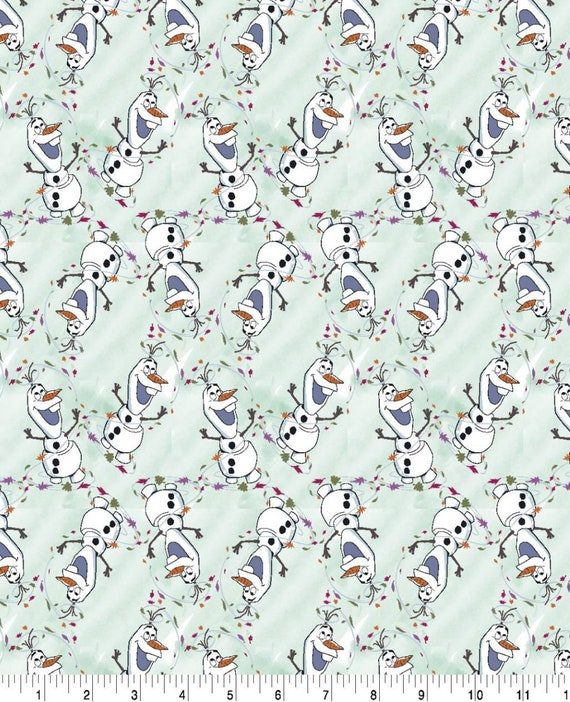 Olaf Forrest Fabric - Frozen 2 Fabric - Elsa and Anna - Sven - Christof - Olaf Fabric - Into the Unknown