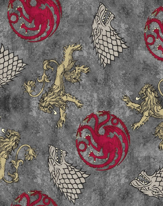 Game of Thrones Fabric - House Fabric - Stark Fabric -Seven Kingdoms Fabric - Winter Is Coming