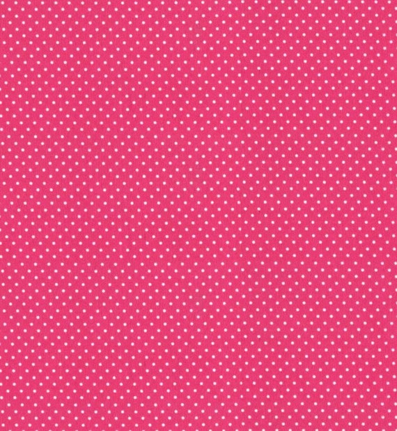 Pink Polka Dot PUL Fabric - Babyville Fabric - Waterproof Fabric - Cloth Diaper Fabric - Bird PUL Fabric - Wet Bag Fabric