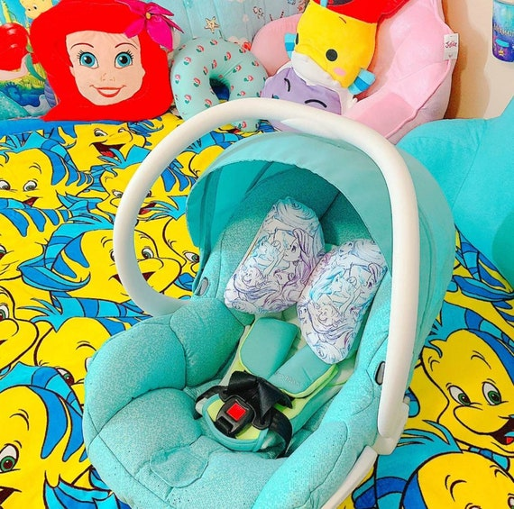 Little Mermaid Infant Head Support - Torticollis - Positional Plagiocephaly - Elephant Ear Pillow - Car Seat Head Support - Baby Shower Gift