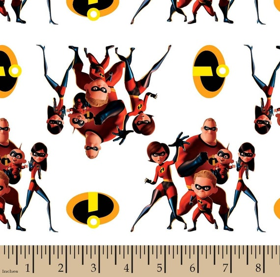Incredibles 2 Fabric - Incredibles Mask Toss - Disney Fabic - Mr Incredible