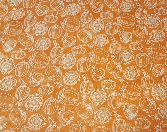 Pumpkin Fabric - Fall Pumpkin Fabric - Orange Pumpkin Fabric - Fall Fabric - Thanksgiving Fabric - Turkey Fabric - Wagon Fabric