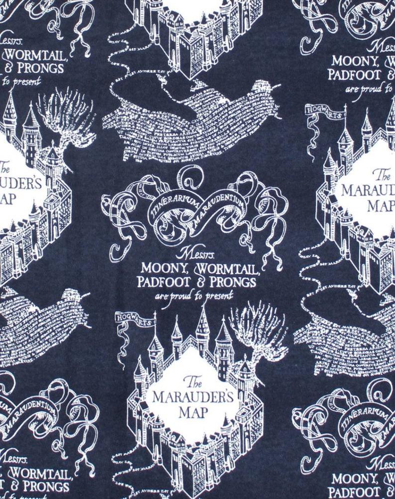 Navy Marauder's Map Harry Potter  Harry Potter Gryffindor image 0