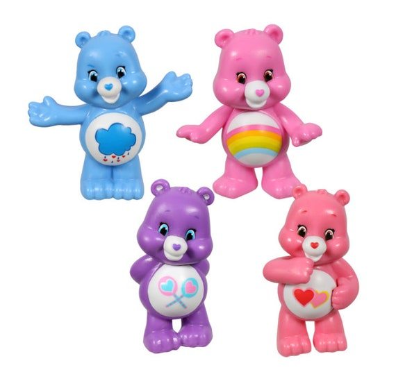 Care Bears Cake Toppers - Care Bear Cupcake Topper - Care Bear Mini Figurines