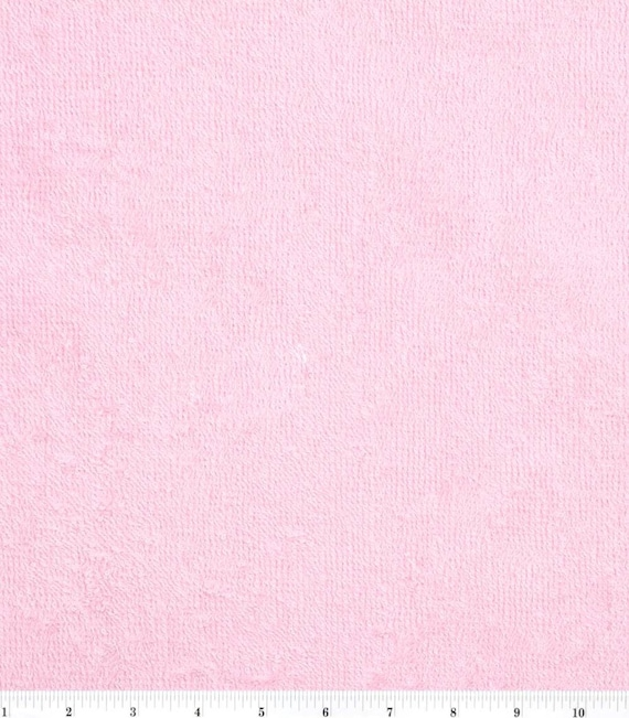 Pink Terry Cloth - Towel Fabric - Terry Cloth by the Yard - Cotton Terry Cloth