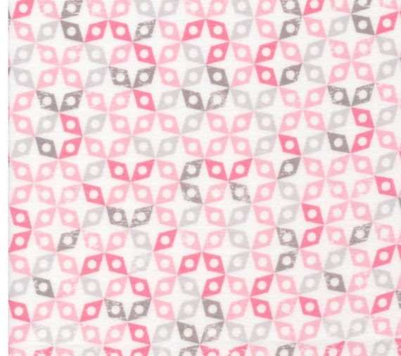 Organic Cloud9 Pink Geo Flannel Fabric - Cloud 9 Baby Fabric - Organic Cloud 9 Blue Geo Flannel