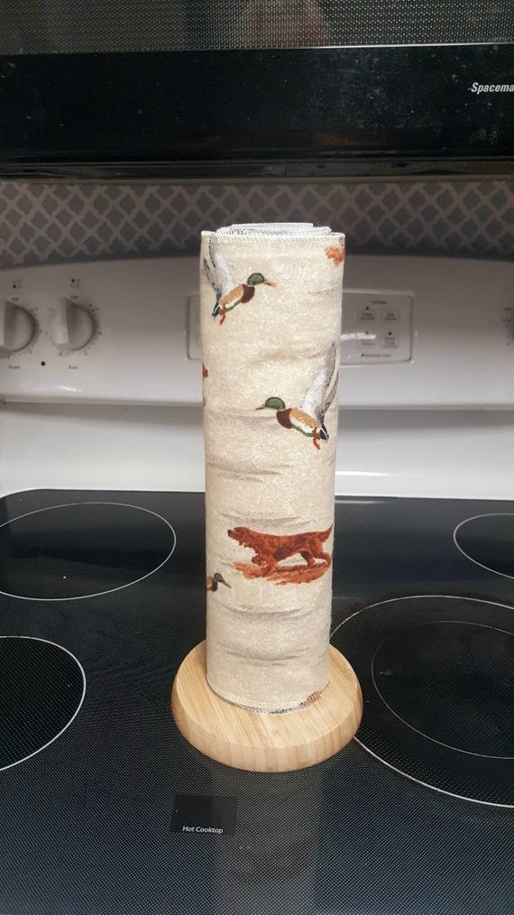 Christmas Unpaper Towels - Flannel Reusable Towels - 1 Ply - ECO Friendly - Cotton Paper Towels - Duck Hunting - Dogs