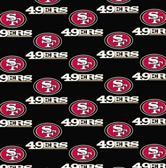 San Francisco 49er Fabric - NFL Fabric - Football Fabric