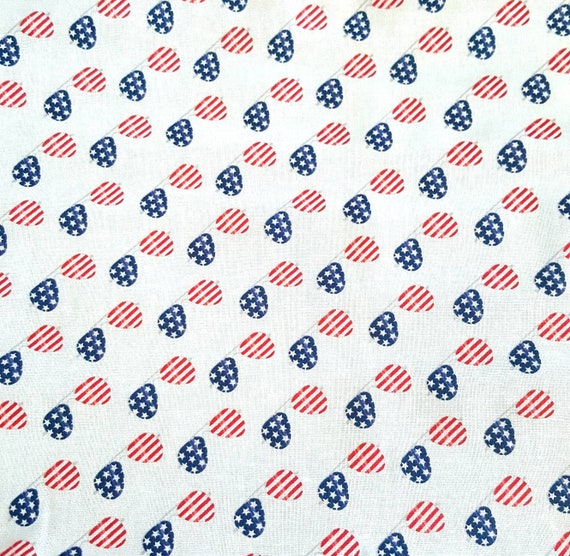 Patriotic Sunglasses Fabric - Patriotic Fabric - America Flag Fabric - 4th of July Fabric - Fireworks