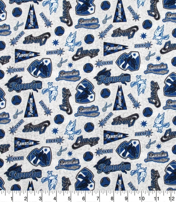 Ravenclaw Fabric - Hufflepuff Fabric - Harry Potter Gryffindor Fabric - Quilting Cotton Harry Potter Fabric - Ravenclaw Fabric