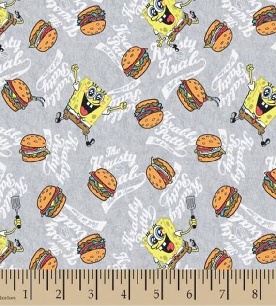 Spongebob Square Pants Fabric - Krabby Patty Fabric - Bikini Bottom Fabric - Squidward Fabric - Parrot- Mr. Crab