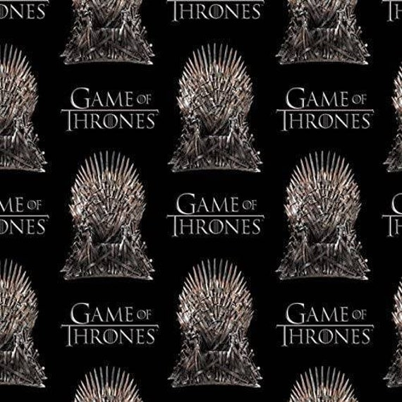 Game of Thrones Fabric - House Stark - House Fabric - Winter is Coming - White Walker - Targarian - Lanaster - Wolf - Lion
