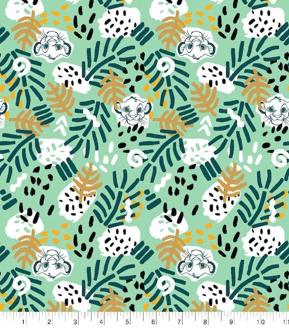 Lion King Jersey Knit Fabric - Simba Lion King Fabric - Jungle Knit Fabric