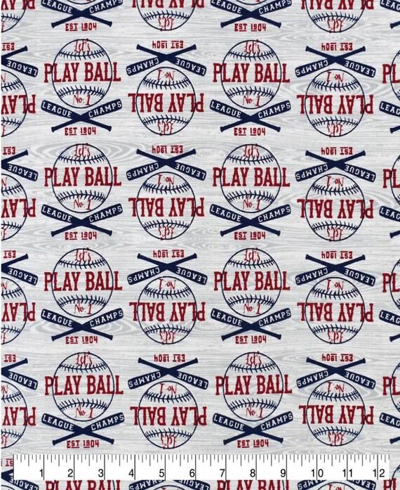 Baseball Snuggle Flannel - Play Ball Flannel - Baseball Baby Fabric - Wood Grain Fabric