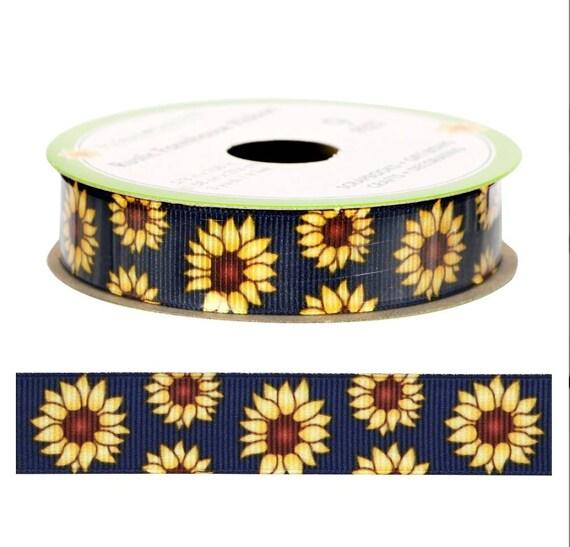 Sunflower Ribbon - Farmers Market Ribbon - Farm Ribbon - Farm House Ribbon