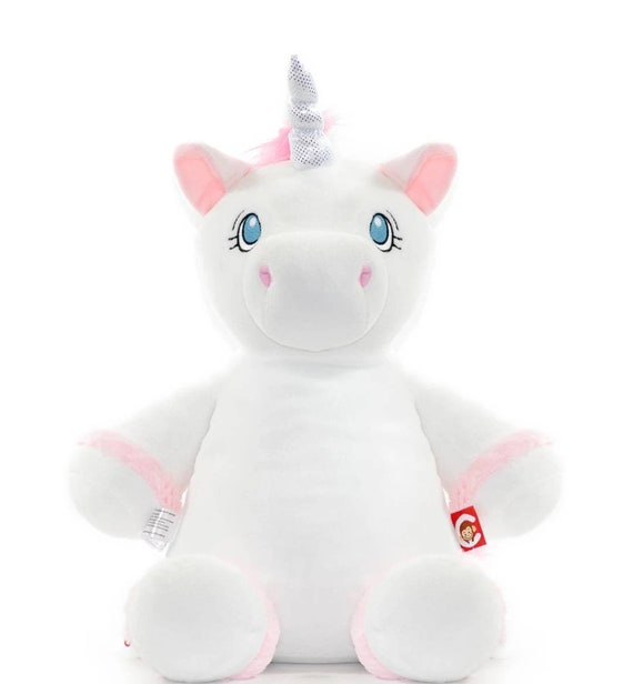 Cubbies Unicorn Embroidery Plush - Unicorn Suffer Animal - Easy Embroidery with Zippered Closure
