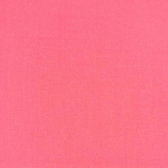 Coral Pink Cotton Fabric - Cotton Material by the Yard - 100% Cotton