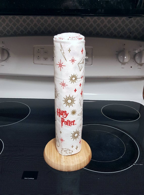 Harry Potter Unpaper Towels - Flannel Reusable Towels - 1 Ply - ECO Friendly - Cotton Paper Towels - Hermione - Ron - Hogwarts - Christmas