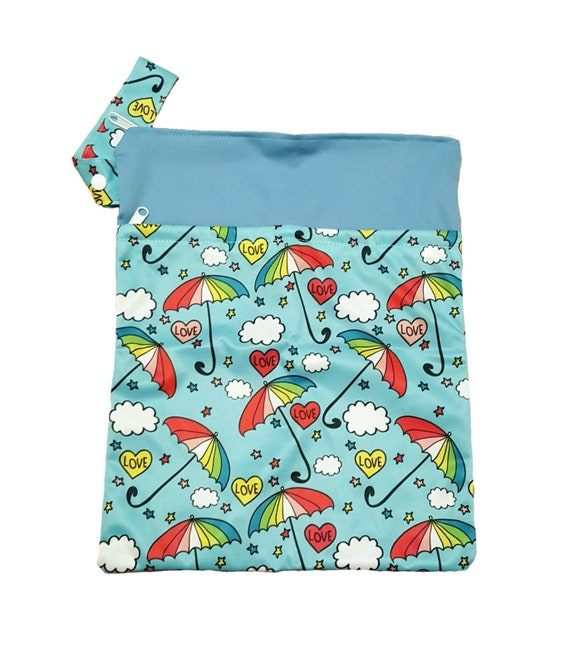 On The Go Wet Bags - Cloth Diaper Wet Bags - Swimsuit Wet Bags - Mama Cloth Wet Bag - Double Zipper Wet Bags