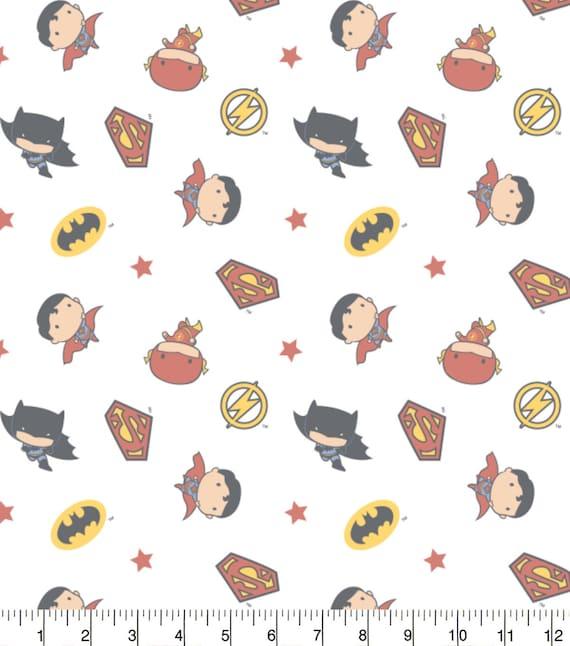 DC Comics Swaddle Blanket Fabric - Batman Fabric - Superman Fabric - Flash Fabric - DC Comic Fabric