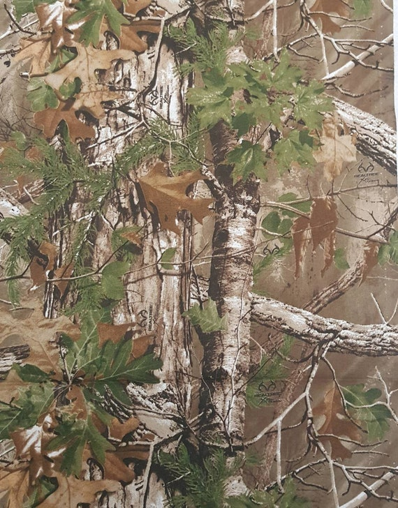 Brown Realtree Cotton Fabric - Brown Camo Fabric - Brown Camouflage Fabric