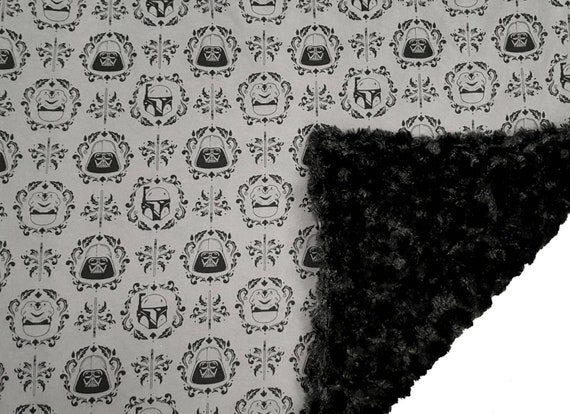 Star Wars Baby Blanket - Baby Shower Gift Idea - Jersey Knit and Minky Blanket - Nursery Accessories - Darth Vader