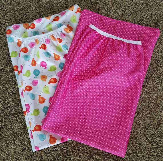 Diaper Pail Wet Bag Set of 2 - Diaper Genie  Wet Bag - Unique Baby Shower Gift Idea - Cloth Diapering Accessories