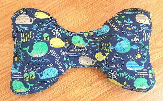 Whale Infant Head Support - Torticollis - Positional Plagiocephaly - Elephant Ear Pillow - Car Seat Head Support - Unique Baby Shower Gift