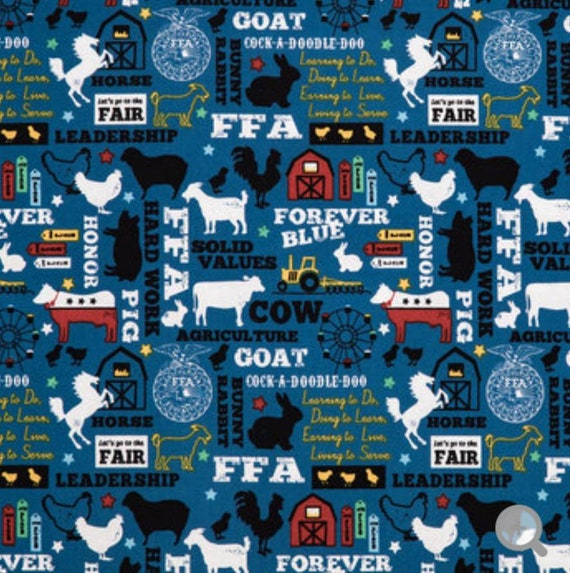 FFA Fabric - Future Farmers of America Fabric - Farmer Fabric - Ranch Fabric