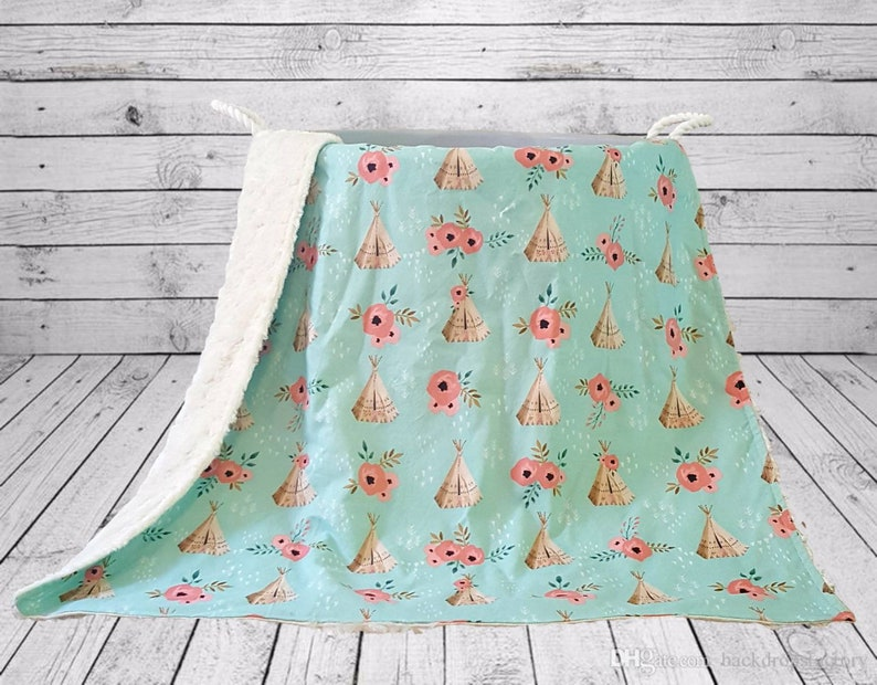 Teepee Baby Blanket  Unique Baby Shower Gift Idea  Baby image 0