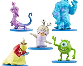 Monsters Inc Cake Toppers - Cupcake Toppers - Minsters University Cupcake Toppers - Monsters Inc Cake Decorations