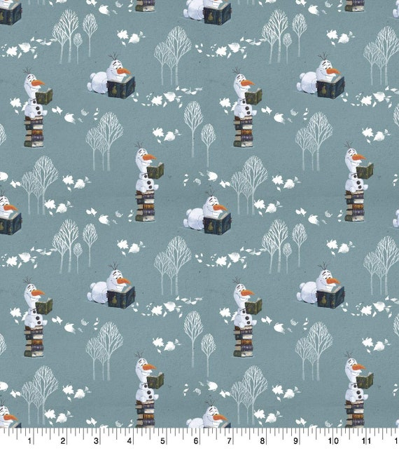 Olaf Reading - Frozen 2 Fabric - Elsa and Anna - Sven - Christof - Olaf Fabric - Into the Unknown