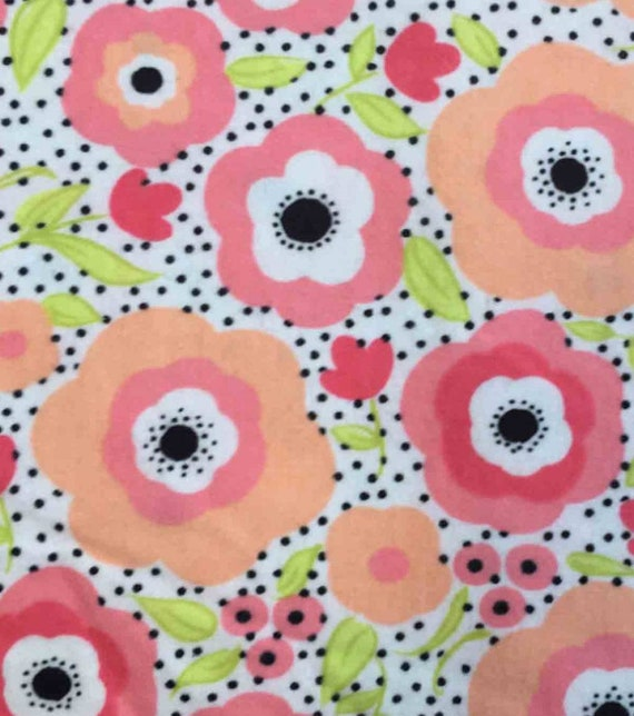 Floral Flannel Fabric - Flowers Snuggle Flannel - Girl Snuggle Flannel - Flannel Fabric by the Yard - Spring Flannel