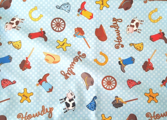 Cowboy PUL Fabric - Babyville Fabric - Waterproof Fabric - Toy Story Fabric - Cloth Diaper Fabric - Bird PUL Fabric - Wet Bag Fabric
