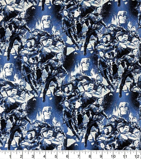 Avengers Panel Fabric - Captain America - Captain Marvel - Thor - The Hulk - Spider-man
