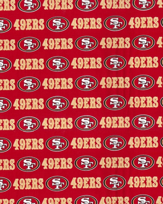 San Francisco 49er Fabric - NFL Fabric - Football Fabric