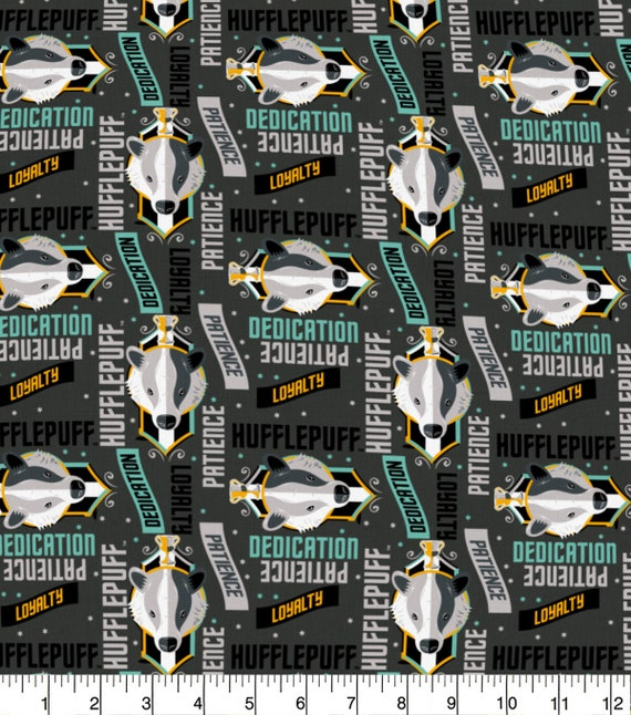 Hufflepuff Fabric - Slytherin Fabric - Harry Potter Gryffindor Fabric - Quilting Cotton Harry Potter Fabric - Ravenclaw Fabric
