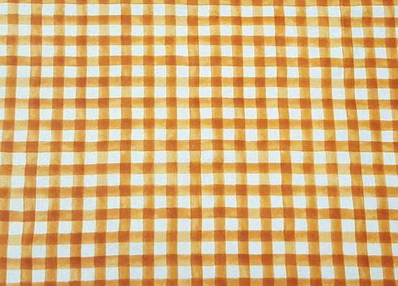 Orange Plaid Fabric - Farmers Market Fabric - Pumpkin Patch Fabric - Rustic Fabric - Country Fabric - Farm House - Plaid Fall Fabric