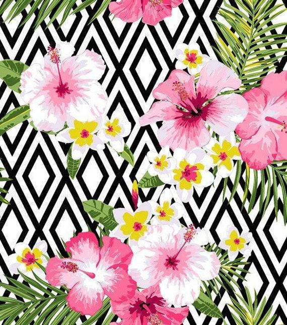 Hawaiian Snuggle Flannel Fabric - Floral Fabric