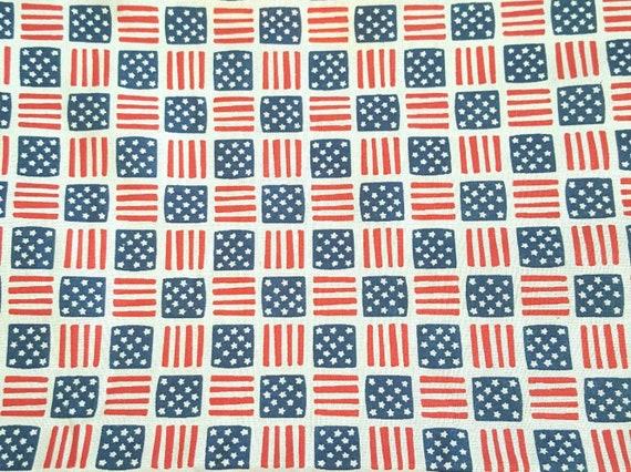 Patriotic Fabric - America Flag Plaid Fabric