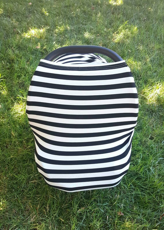 Stripes Car Seat Canopy - Car Seat Cover - Breastfeeding Cover - Baby Shower Gift Idea - New Mom Gift - Stretch Car Seat Cover