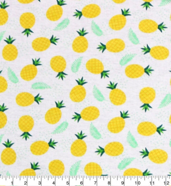 Pineapple Flannel - Summer Flannel Fabric - Pineapple Fabric