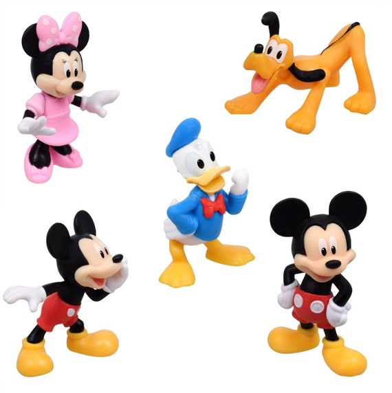 Mickey Mouse Clubhouse Cupcake Toppers - Mickey Mouse Clubhouse Cake Decorations - Mini Mouse - Donald Duck - Pluto - Mickey Mouse