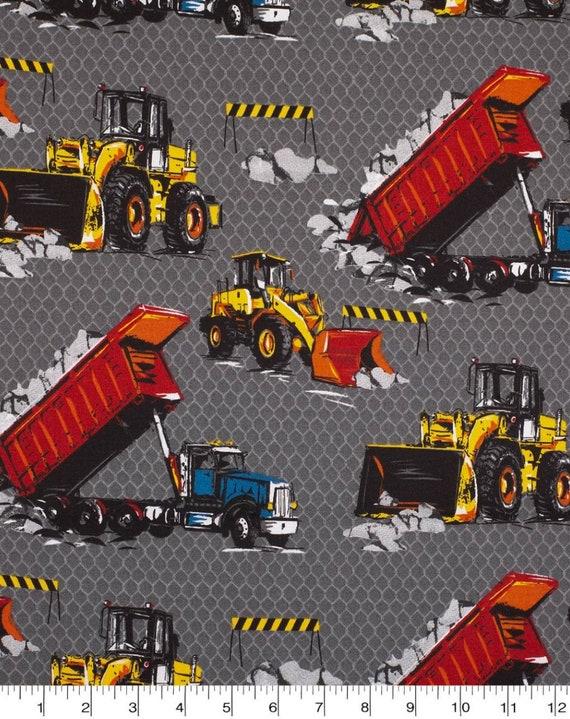 Tractor Fabric - Escivator Fabric - Construction Fabric - Bulldozer Fabric