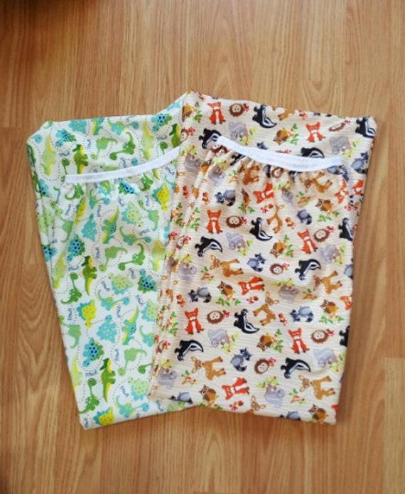 Set of 2 - Eco-PUL Diaper Pail Wet Bag - Diaper Genie  Wet Bag - Unique Baby Shower Gift Idea - Cloth Diapering Accessories